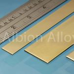 Brass strip alb 6x0.4mm (5)