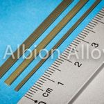 Brass l channel alb 3x1mm (1)