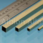 Brass tube square alb 6.35x6.35mm (2)