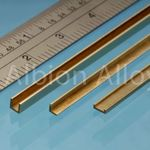 Brass u channel alb 2.5x2.5x2.5mm (1)