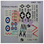 Decal set haoye (f-18)