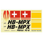 Decal mpx pilatus pc-6 (red)