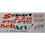 Decal set sebart 2.2m  rwb