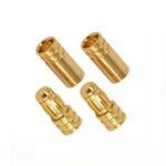 Ace gold connector 5.0mm (2 pairs)
